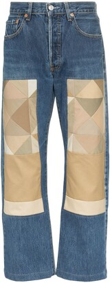 Children Of The Discordance Tranch patchwork jeans