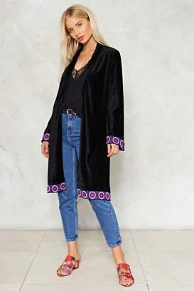 Nasty Gal Babooshka Velvet Kimono