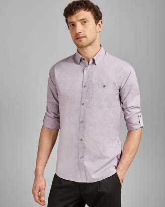 Ted Baker AAARON Long sleeved cotton shirt