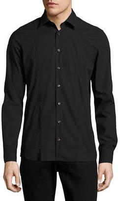 Pure Slim Fit Seamed Stretch Shirt