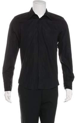 John Richmond Jewel Embellished Woven Shirt