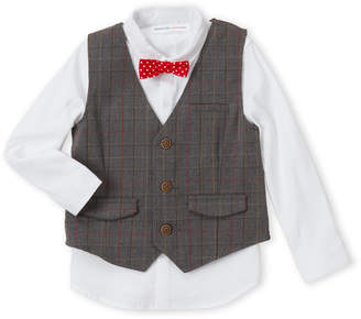 Minoti (Boys 4-7) 3-Piece Check Vest & Bowtie Shirt Set