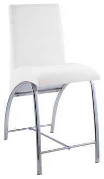 ACME Furniture ACME Georgie 24' White Faux Leather Counter Height Chair, Set of 2