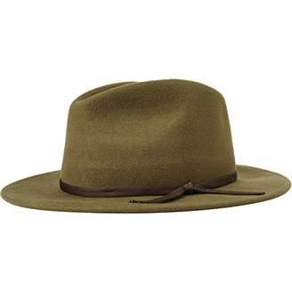 Brixton Men's Coleman Medium Flat Brim Felt Fedora Hat