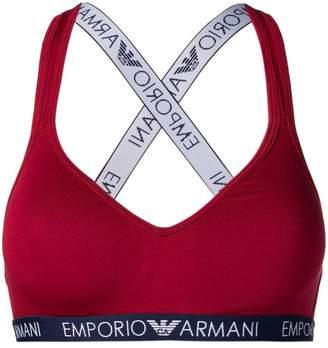 Emporio Armani logo waistband bralette