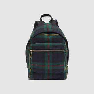 Sandro Tartan backpack, small model