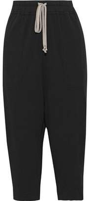 Rick Owens Cropped Cotton-jersey Harem Pants