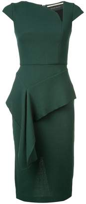 Roland Mouret fitted ruffle detail dress