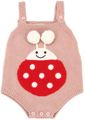 Stella McCartney Ladybug Intarsia Cotton Tricot Bodysuit