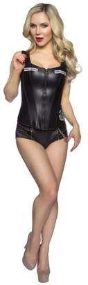 OSA Sons of Anarchy Pleather Corset & Panty Set (Juniors)