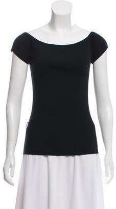 Michael Kors Off-The-Shoulder Ribbed Knit Top