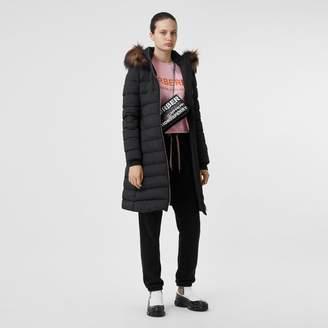 Burberry Detachable Faux Fur Trim Hooded Puffer Coat