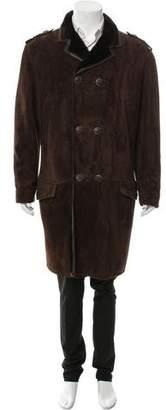 Gianni Versace Suede Shearling Coat