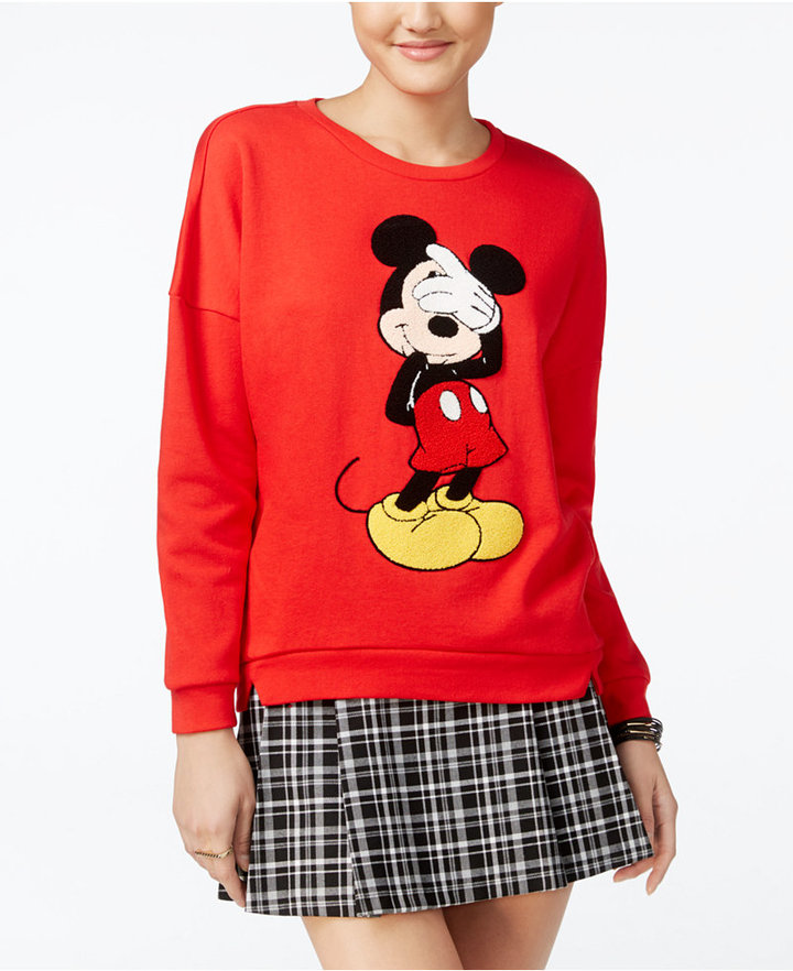 Disney Juniors' Mickey Mouse Patch Graphic Sweatshirt