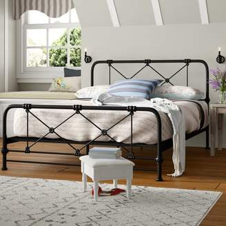 August Grove Cherrie Modern and Contemporary Stippled Queen Platform Bed