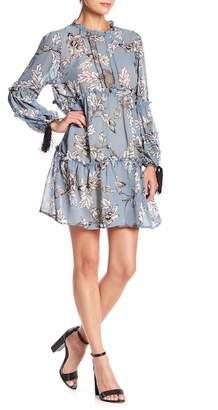 Aiden Floral Print Ruffle Dress