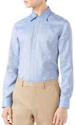 Gucci Bee Jacquard Oxford Duke Shirt