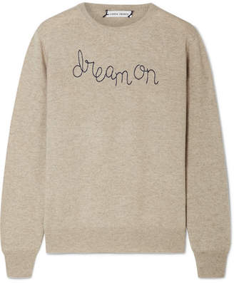 BEIGE Lingua Franca - Dream On Embroidered Cashmere Sweater