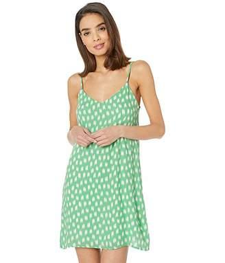 American Rose Luna Spaghetti Strap Printed Dress