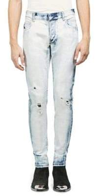 Balmain Distressed Skinny-Fit Washed Jeans