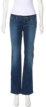 DKNY Low-Rise Straight-Leg Jeans