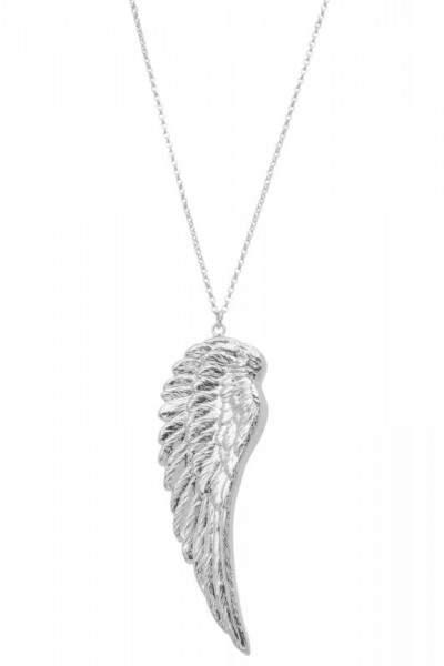 Styleserver DE Tomshot Halskette mit Flügel-Anhänger versilbert