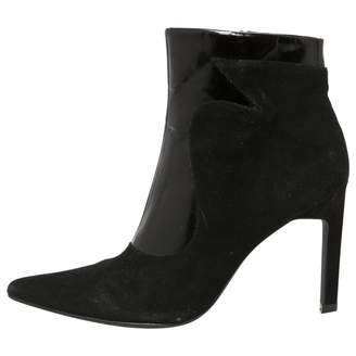 Senso Black Leather Ankle boots