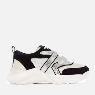 Kurt Geiger London Women's Lex Leather Chunky Runner Style Trainers - Black/White