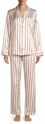 Ginia Striped Silk Pajama Pants
