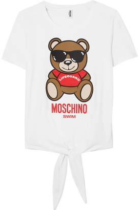 Moschino - Printed Cotton-jersey T-shirt - White