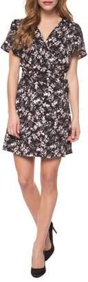 Dex Short Sleeve Printed Wrap Dress