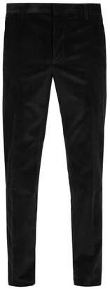 Prada Straight Leg Cotton Corduroy Trousers - Mens - Black
