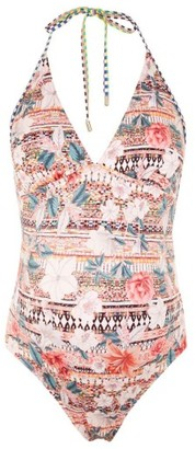 Women's Topshop Geo Floral Maternity One-Piece Swimsuit $65 thestylecure.com