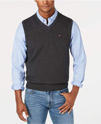 Tommy Hilfiger Men's V-Neck Sweater Vest, Created for Macy's