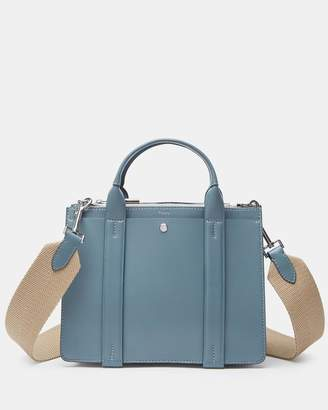 Theory Mini West Bag With Webbing Shoulder Strap in Nappa Leather