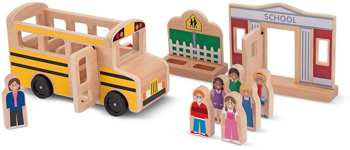 Melissa & Doug Kids Toys, Whittle World School Bus Set
