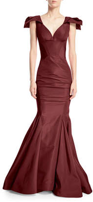 Zac Posen Sweetheart Sleeveless Mermaid Silk-Faille Evening Gown