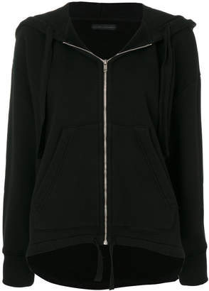 Citizens of Humanity zipped trapeze hem hoodie
