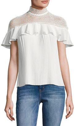 1st Sight Ruffled Lace Top