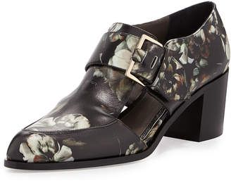 Jason Wu Floral-Printed Leather Buckle Pump, Multi