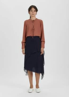 Rachel Comey Defiant Silk Chiffon Skirt Midnight