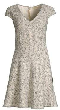 Rebecca Taylor Speckle Tweed Flare Dress