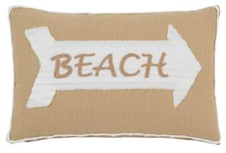 "Shiraleah Beaufort Beach Pillow- 15""x12\"" - Tan"