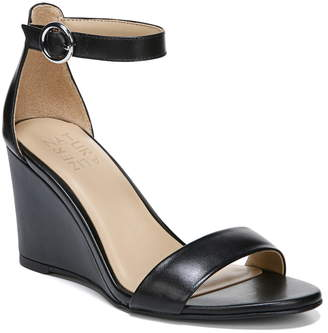 5a531a8cb84c Naturalizer Black Wedge Women s Sandals - ShopStyle