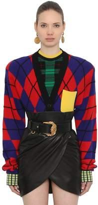 Versace Oversized Wool Knit Cardigan