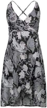 jxfd Women's Print Chiffon Sleeveless Shorts Cocktail Beach Dress XL