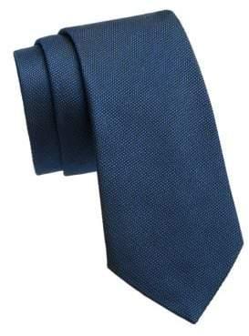 Giorgio Armani Tick Weave Silk Tie