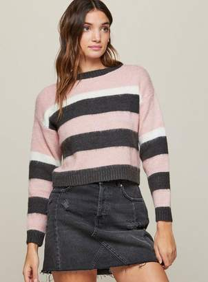 Miss Selfridge Petite striped knitted jumper