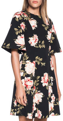 Floral Flared Sleeve Dress
