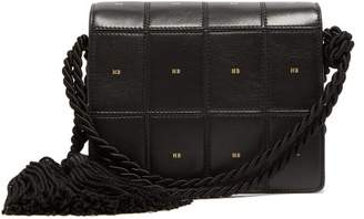 Hillier Bartley - Logo Print Panelled Leather Satchel - Womens - Black